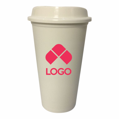 VASO DE PLASTICO REUSABLE PARA CAFE CON TAPA CON CAPACIDAD 473 ml (16 Oz)