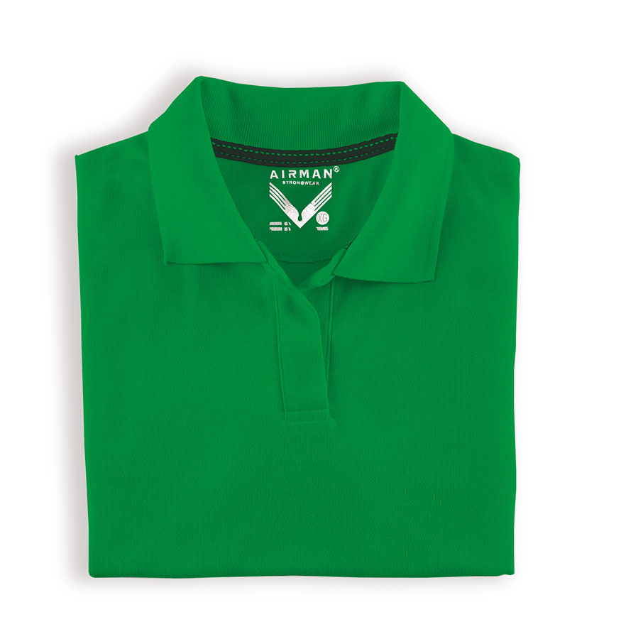 PLAYERA AIRMAN POLO TENNIS DAMA VERDE LOGO BORDADO