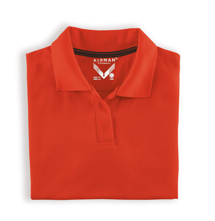 PLAYERA AIRMAN POLO TENNIS DAMA ROJO LOGO BORDADO